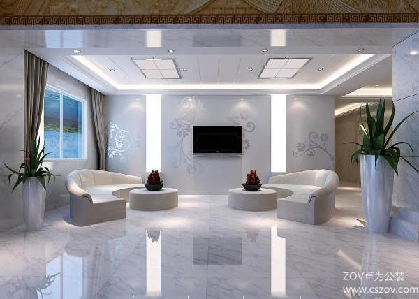 3350平现代型办公室设计效果图