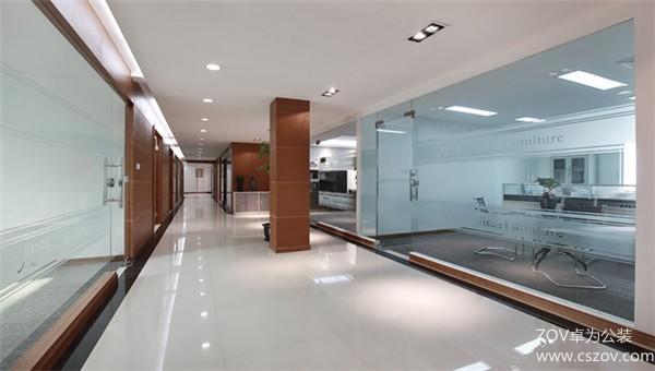 大型企业之稳重型办公室设计