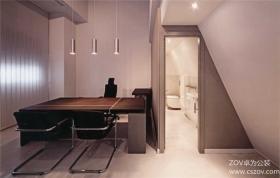 简单色调打造小型办公室装修